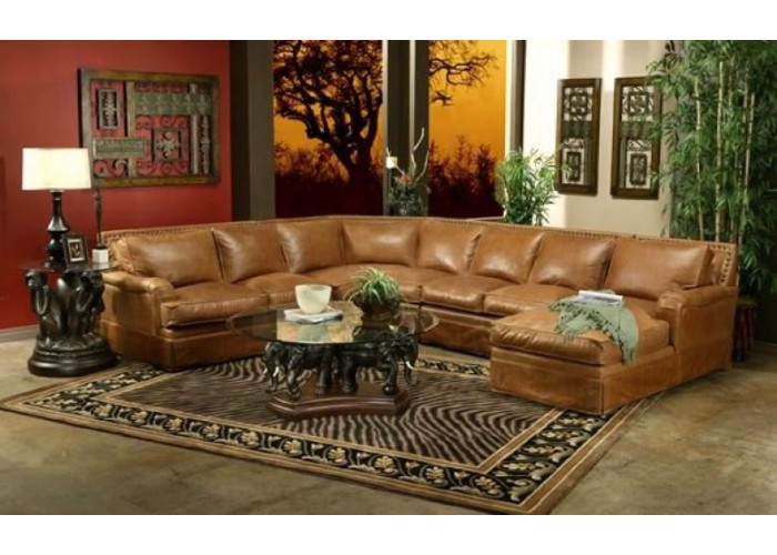 omnia hacienda leather sofa sectional